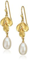 Nina Fresh Water Pearl Leaf Drop Earrings
