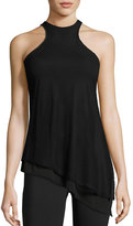 Michi Aura Dual Layer Tank Top, Black