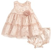 Frais Infant Girl's Gold Star Dress