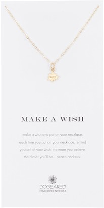 Dogeared Gold Plated Sterling Silver Make A Wish 'Pow!' Charm Necklace
