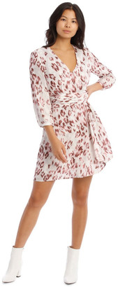 Wayne Cooper Draped Waist Multi Print Lined Digital Dress