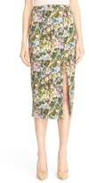 Cushnie et Ochs Women's Floral Stretch Cady Pencil Skirt