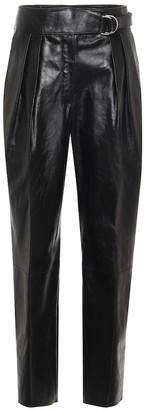 Jil Sander Belted leather carrot pants