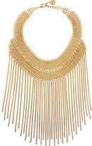 Ben-Amun Gold-plated chain bib necklace