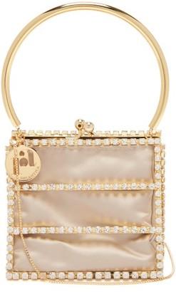 Rosantica Tris Caged Crystal-embellished Bag - Red Multi