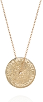 Laura Lee Jewellery Zodiac Wheel Necklace - Yellow Gold