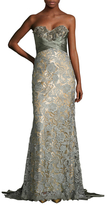 Mac Duggal Prom Lace Panel Floor Length Dress