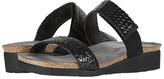 Naot Footwear Blake (Black Braid Leather/Black Velvet Nubuck) Women's Shoes