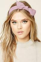 Forever 21 FOREVER 21+ Bow Crepe Woven Headwrap