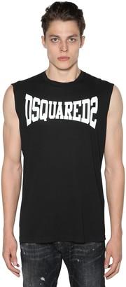 DSQUARED2 Sleeveless Logo Printed Jersey T-shirt