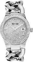 So & Co New York SoHo Women's Quartz Watch with Silver Dial Analogue Display and Silver Stainless Steel Bracelet 5083.1