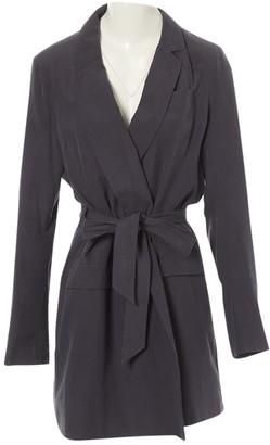 Each X Other Each X Grey Silk Coat for Women