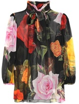 Dolce & Gabbana Floral-printed silk blouse
