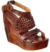 Bed Stu Petra Leather Wedge Sandal.