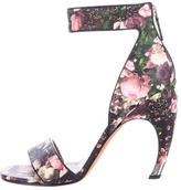 Givenchy Floral Leather Ankle Strap Sandals