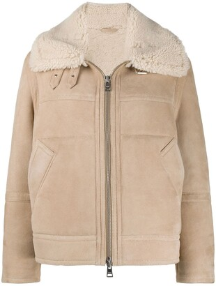 AMI Paris Suede Finish Zipped Jacket