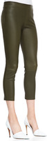 Vince Cropped Skinny Leather Leggings