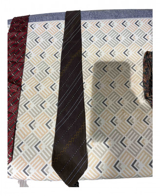 Ermenegildo Zegna Brown Silk Ties