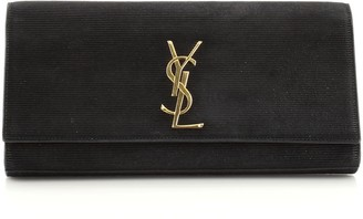 Saint Laurent Classic Monogram Clutch Suede Long