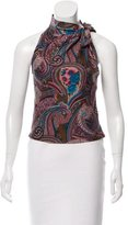 Blumarine Sleeveless Printed Top