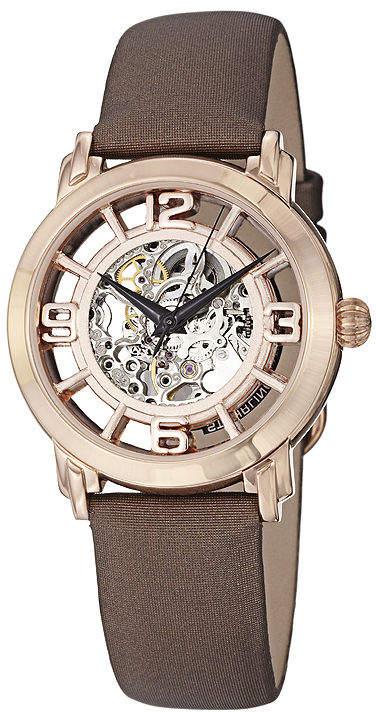 Stuhrling Original Sthrling Original Womens Rose Gold-Tone Skeleton Automatic Watch