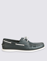 M&S Collection Leather Lace-up Boat Shoes
