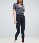 Asos Design DESIGN Ridley high waisted skinny jeans in washed black
