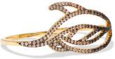 Noir Lustrous Gold-Tone Crystal Ring