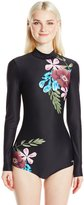 O'Neill Women's Glamour Hybrid Long Sleeve One Piece Swimsuit