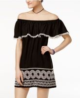 Trixxi Juniors' Off-The-Shoulder Shift Dress