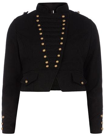 Dorothy Perkins Black military button jacket