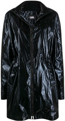 Karl Lagerfeld Paris Ikonik metallic parka coat