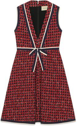 Gucci Geometric tweed dress