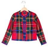 Oscar de la Renta Girls' Wool Plaid Jacket w/ Tags
