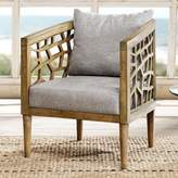 Inkivy INK+IVY Crackle Contemporary Cutout Arm Chair