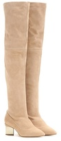 Nicholas Kirkwood Platino Block Over-the-knee Suede Boots
