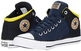 Converse Chuck Taylor All Star High Street Mid (Obsidian/Black/Speed Yellow) Athletic Shoes