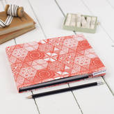 STUDY Grace & Favour Home Hexie Doodle Coral Sketchbook Or Notebook