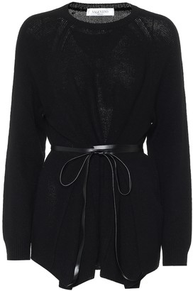 Valentino belted wool-blend sweater