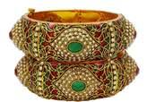 Banithani Indian Traditional Ethnic Bangle Set Kada Bracelets Designer Jewelry 2*8