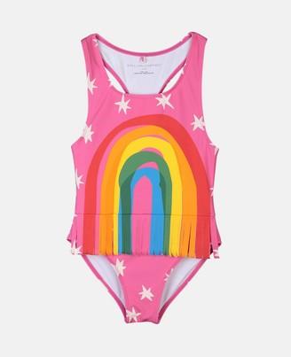 Stella McCartney rainbow & fringe swimsuit