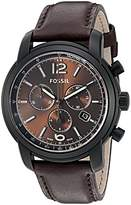 Fossil FSW7008 Swiss FS-5 Series Quartz Chronograph Leather Watch - Chocolate