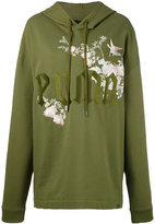 Puma Fenty embroidered graphic hoodie - women - Cotton - XS