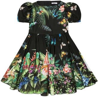 Dolce & Gabbana Kids Printed cotton poplin dress