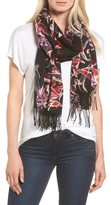 Nordstrom Women's Pressed Flowers Tissue Weight Wool & Cashmere Scarf
