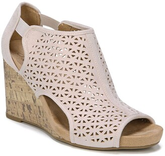 LifeStride Hinx Perforated Wedge Sandal - Wide Width Available