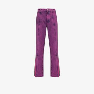 Y/Project Split Cuff Acid Wash Jeans