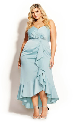 City Chic Passion Maxi Dress - seafoam