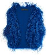 Elie Saab Ostrich And Turkey Feather Vest