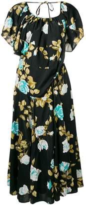 Junya Watanabe layered collar floral dress